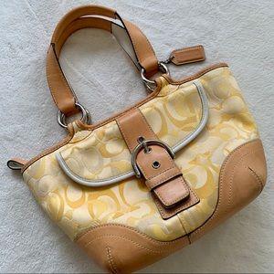 Coach limited edition yellow signature handbag